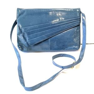 Vintage blue envelope shoulder bag